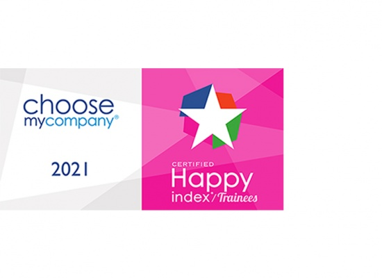 Logo Label Happy Trainees de Choose My Company